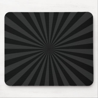 Black and Charcoal Sun Burst Decor Mouse Pad