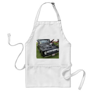 Black and chrome vintage pickup truck adult apron