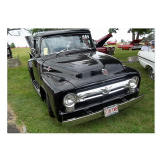 Black and chrome vintage pickup truck large business cards (Pack of 100)