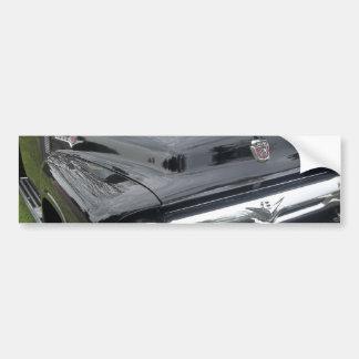 Black and chrome vintage pickup truck car bumper sticker