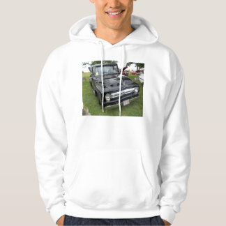 Black and chrome vintage pickup truck hooded pullovers