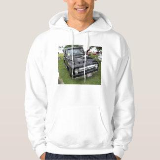 Black and chrome vintage pickup truck hoodie