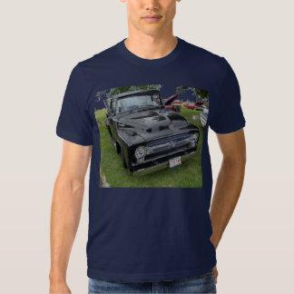 Black and chrome vintage pickup truck t shirt