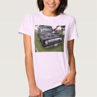 Black and chrome vintage pickup truck t-shirts