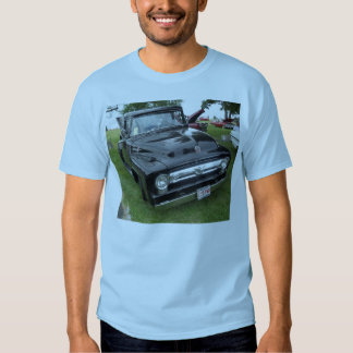 Black and chrome vintage pickup truck tee shirts