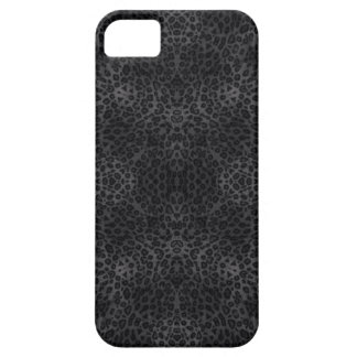 Black and Coal Leopard Print Pattern iPhone 5 Cover