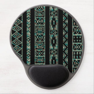 Black And Colorful Tribal Geometric Pattern 2 Gel Mouse Pad