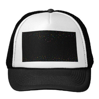 Black And Confetti Party Background Trucker Hat
