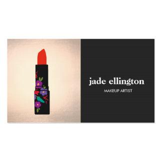 Black and Copper Makeup Artist Lipstick Beauty Business Card
