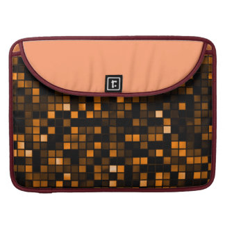 Black And Copper 'Meteor Shower' Squares Pattern MacBook Pro Sleeves