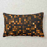 Black And Copper 'Meteor Shower' Squares Pattern Throw Pillows