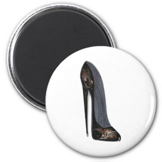 Black and Copper Stiletto Shoe Art Gifts Magnets