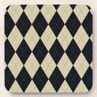 Black and Cream Argyle Coasters