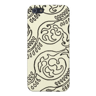 Black and Cream iPhone Case Patterned Case For iPhone 5/5S