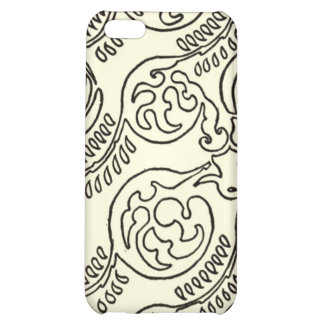 Black and Cream iPhone Case Patterned Cover For iPhone 5C