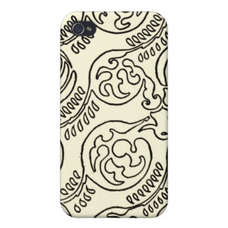 Black and Cream iPhone Case Patterned iPhone 4/4S Cases