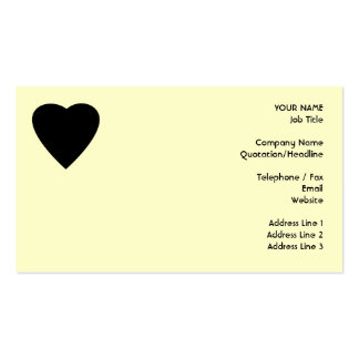Black and Cream Love Heart Design. Double-Sided Standard Business Cards (Pack Of 100)