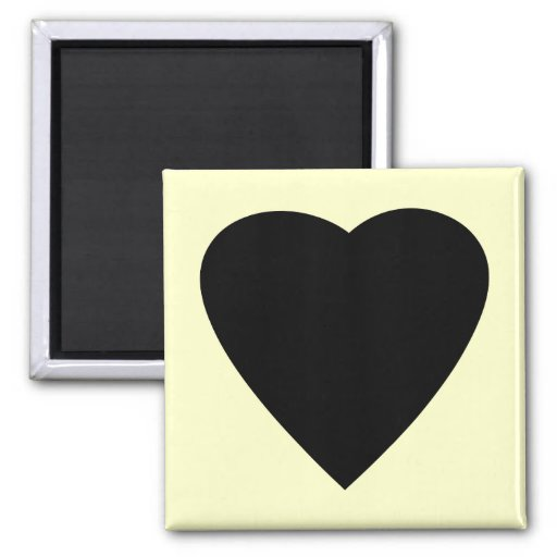 Black and Cream Love Heart Design. Magnets