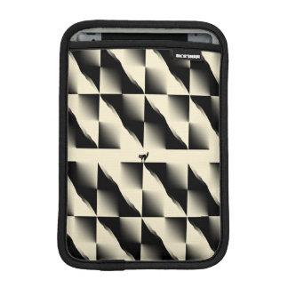 Black and Cream Squares iPad Mini Sleeves