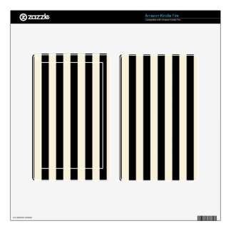 Black and Cream Stripes Kindle Fire Decal