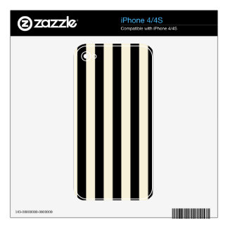 Black and Cream Stripes Skin For The iPhone 4S