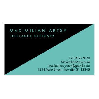 Black And Custom Color Avant-garde Business Card