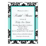 Black and Damask Bridal Shower Invitation