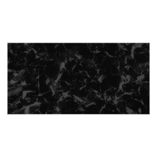 Black and Dark Gray Abstract Background Photo Greeting Card