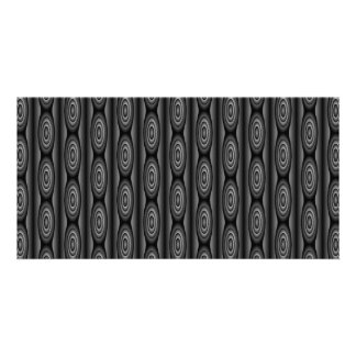 Black and Dark Gray Striped Abstract Pattern Photo Card Template