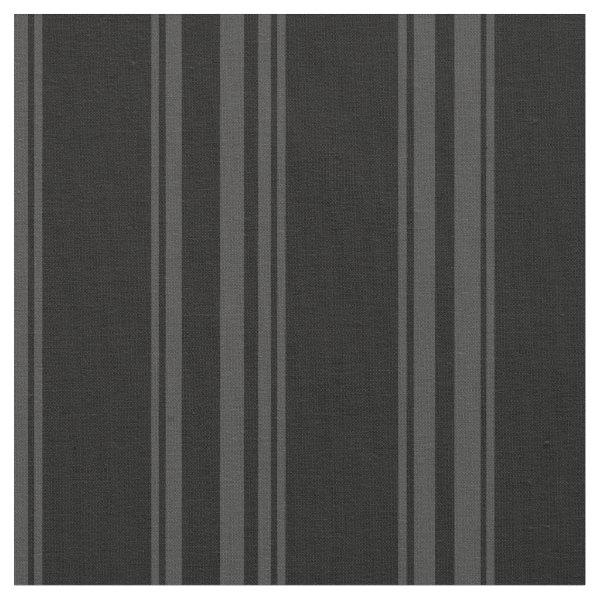 Black and dark grey striped fabric