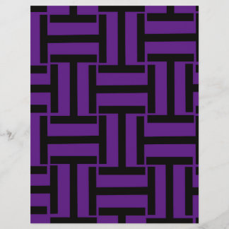 Black and Dark Purple T Weave