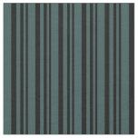 [ Thumbnail: Black and Dark Slate Gray Pattern of Stripes Fabric ]