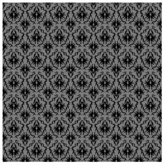 Black and Deep Gray Damask Design. Cutout