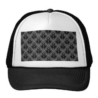 Black and Deep Gray Damask Pattern. Trucker Hat
