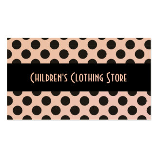 Black and Eggshell Polka Dots Cards Business Card Template