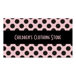 Black and Eggshell Polka Dots Cards Business Card