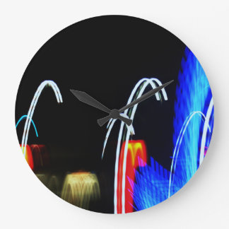 Black and Electrical   Large Clock