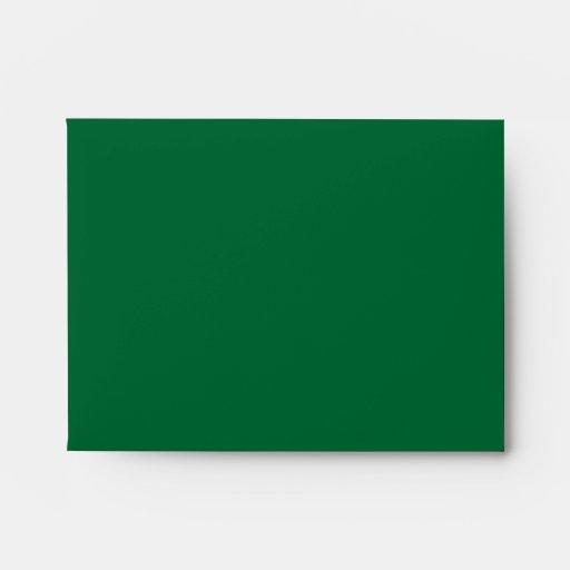 Black and Emerald Green Flower Design. Envelope