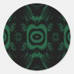 Black and Emerald Green Flower Design. Sticker