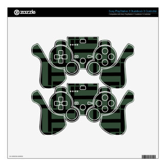 Black and Evergreen T Weave PS3 Controller Decals