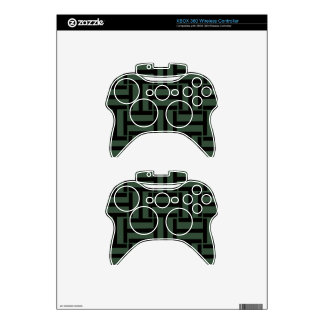 Black and Evergreen T Weave Xbox 360 Controller Decal
