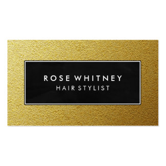 Black and Faux Gold Creative Business Card