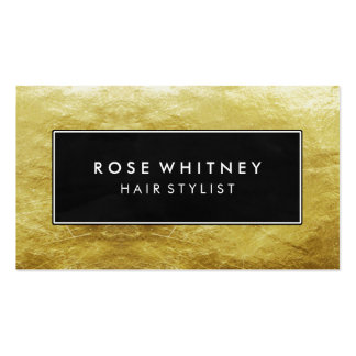 Black and Faux Gold Foil Creative Business Card