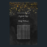 """Black and Faux Gold Glitter Flyer<br><div class=""""desc"""">This elegant yet modern wedding invitation suite has an inky black watercolor background with a scattering of faux gold glitter flecks cascading from the top and white text.</div>"""