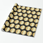 Black And Faux Gold Golden Elegant Glamorous Wrapping Paper