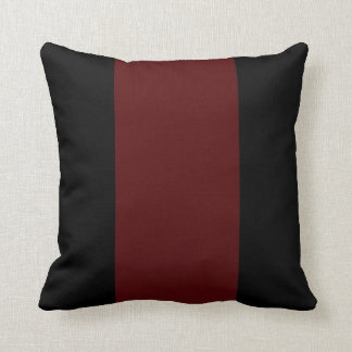 Black and Garnet II Throw Pillow