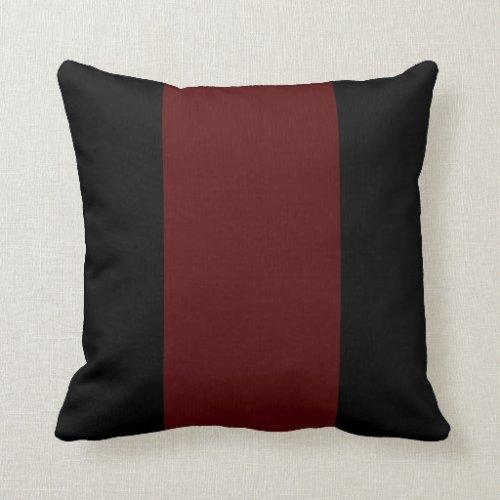 Black and Garnet II Throw Pillow
