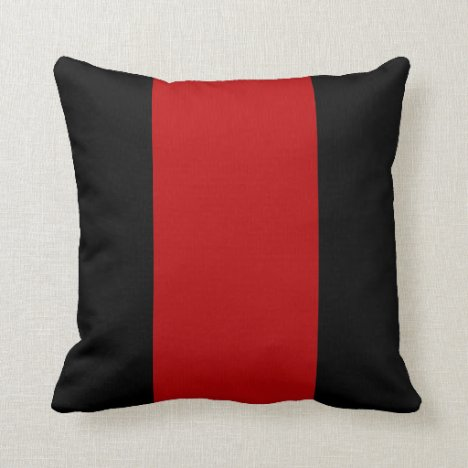 Black and Garnet Ruby Throw Pillow