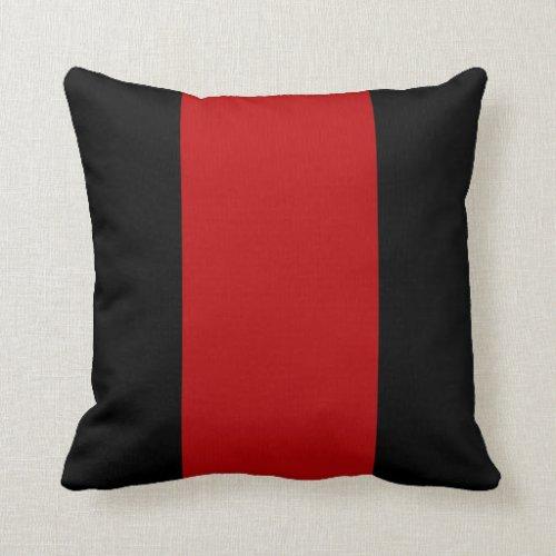 Black and Garnet Ruby Throw Pillow