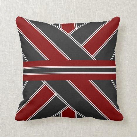 Black and Garnet Throw Pillow